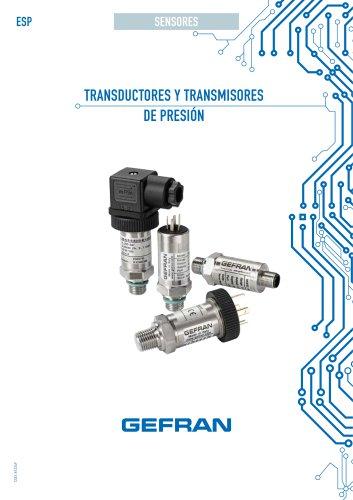 TRANSDUCTORES Y TRANSMISORES DE PRESIÓN
