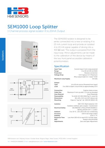Isolators SEM1000