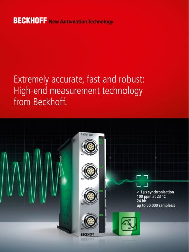 High-end measurement technology from Beckhoff