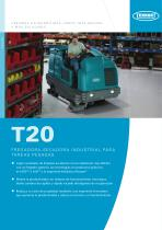 T20 Fregadora - secadora industrial para tareas pesadas