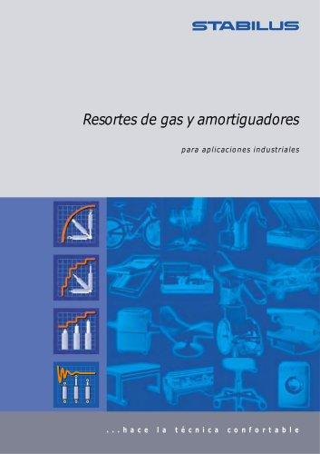 Resortes de gas y amortiguadores para aplicaciones industriales