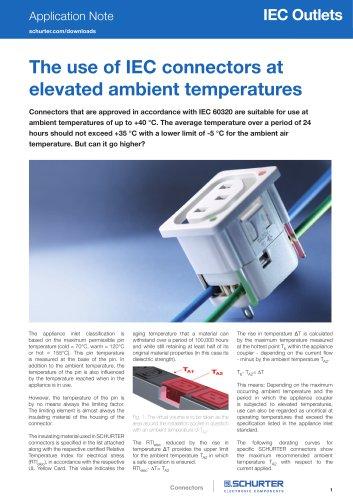 Application Note IEC connectors at elevated ambient temperatures