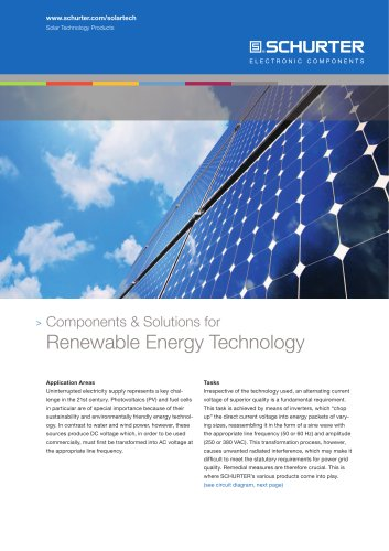 Compontents & Solutions for Renewable Energy Technology