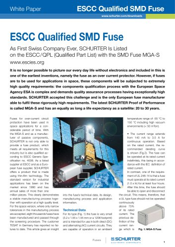 ESCC Qualified SMD Fuse from SCHURTER