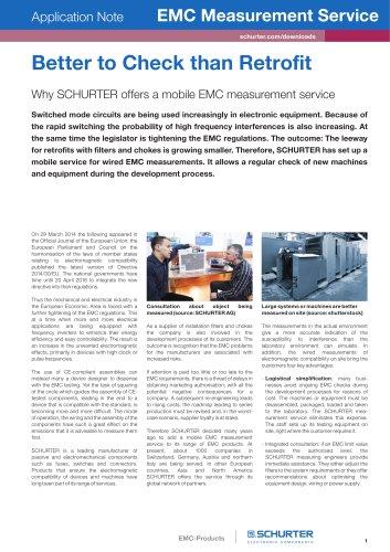 SCHURTER Application Note: EMC Measurement Service