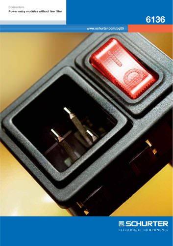 SCHURTER Flyer - Power Entry Module 6136 with Circuit Breaker