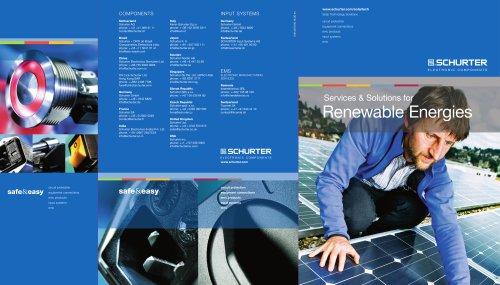 SCHURTER Renewable Energies