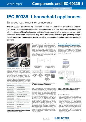 SCHURTER White Paper: Components and IEC 60335-1