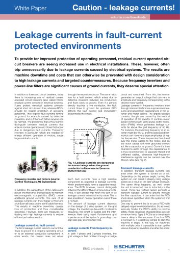 SCHURTER White Paper: Leakage currents in fault-current protected environments