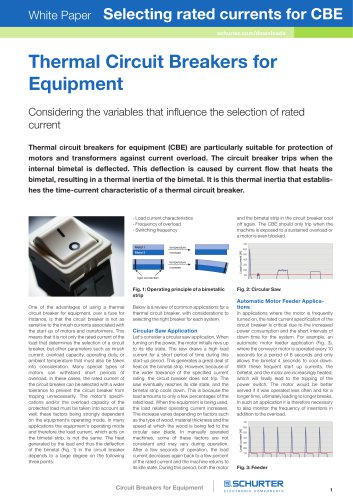 SCHURTER White Paper: Selecting rated currents for CBE