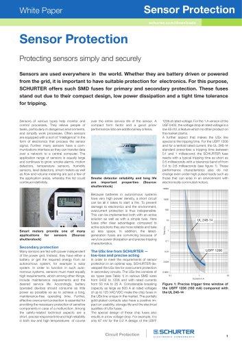 SCHURTER White Paper: Sensor Protection