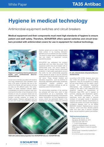 SCHURTER White Paper: TA35 Antibac