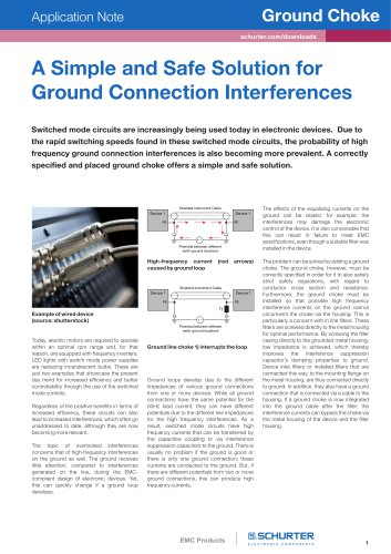 A Simple and Safe Solution for Ground Connection Interferences