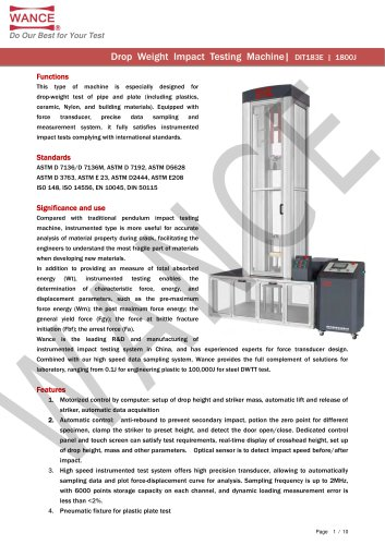 1800J high speed drop weight tester