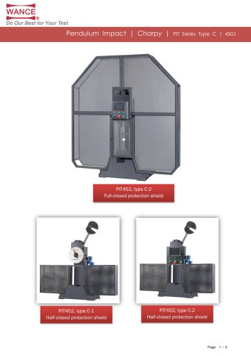 Cast Iron Pendulum impact testing machine (50J)