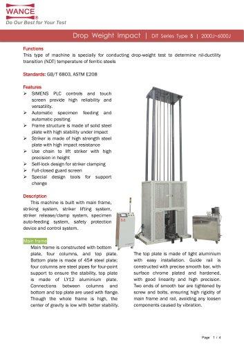 DIT-B Series Drop Weight Impact tester (NDT)
