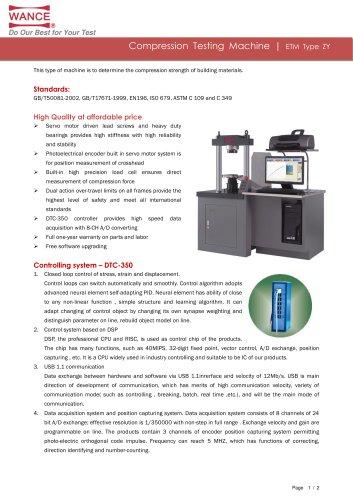 ETM-ZY Electromechanical Compression Testing