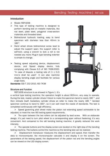 HBT165C Bending Testing Machine