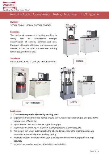 HCT-A Compression Testing Machine