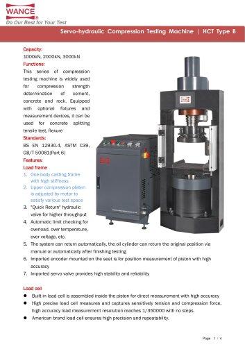 HCT-B Compression Testing Machine