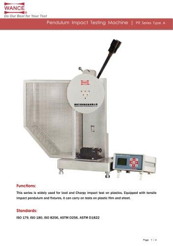 Pendulum impact tester for plastics
