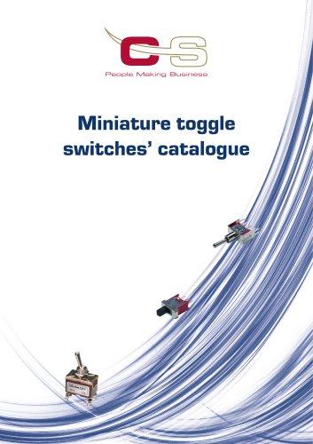 MINIATURE TOGGLE SWITCHES