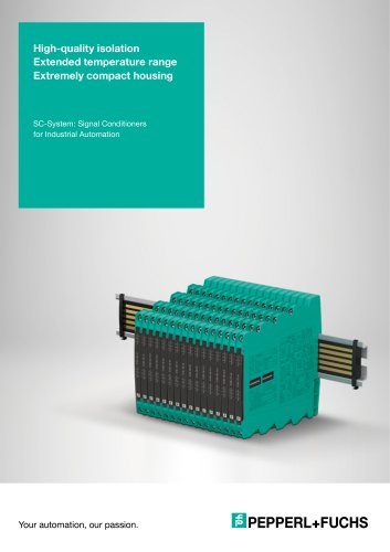 SC-System: Signal Conditioners for Industrial Automation