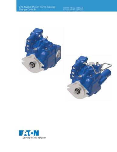220 Mobile Piston Pump Catalog Design Code B