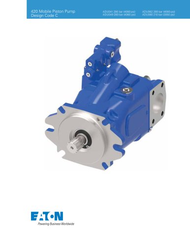 420 Mobile Piston Pump Design Code C