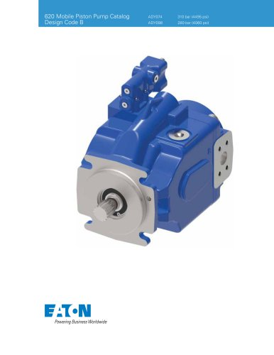 620 Mobile Piston Pump Catalog Design Code B
