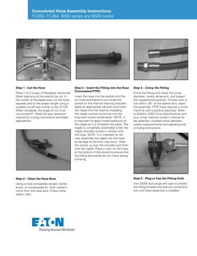 Convoluted Hose Assembly Instructions