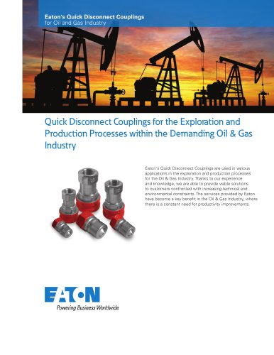 Eaton's Line of Quick Disconnect Couplings for Oil and Gas Industry