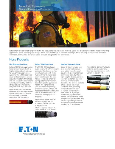 Fire and Prevention Products brochure