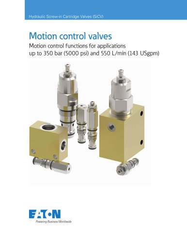 Motion control valves