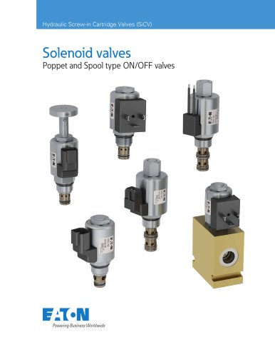 Solenoid valves Poppet and Spool type ON/OFF valves