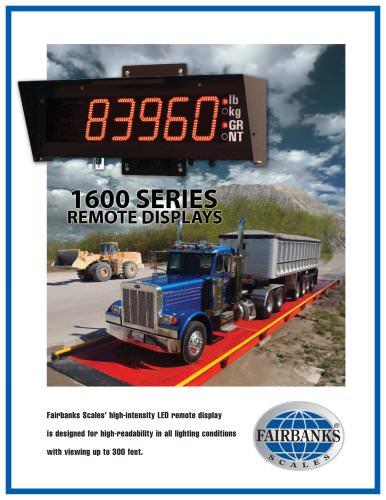 1600 series remote displays