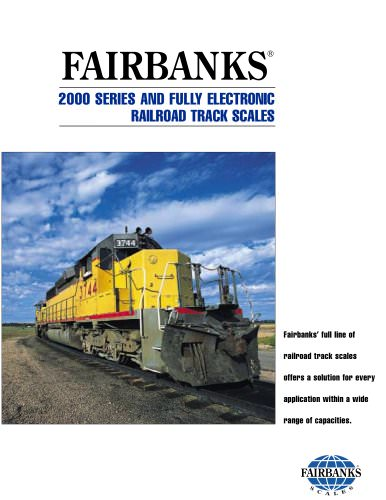 2000 SERIES AND FULLY ELECTRONIC RAILROAD TRACK SCALES