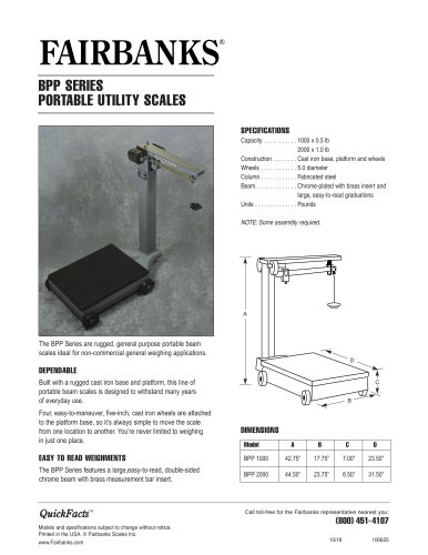 BPP Series Portable Scales