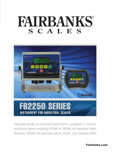 FB2250 SERIES INSTRUMENT FOR INDUSTRIAL SCALES