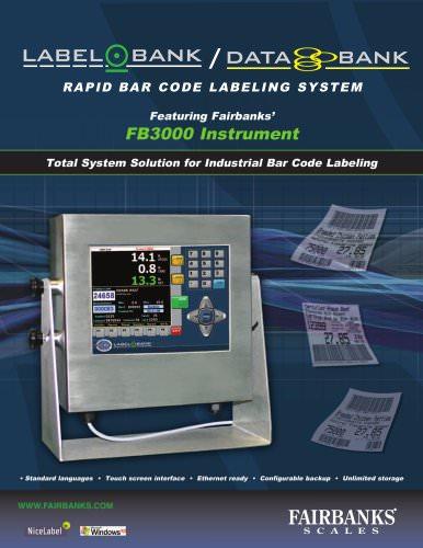FB3000 Instrument RAPID BAR CODE LABELING SYSTEM