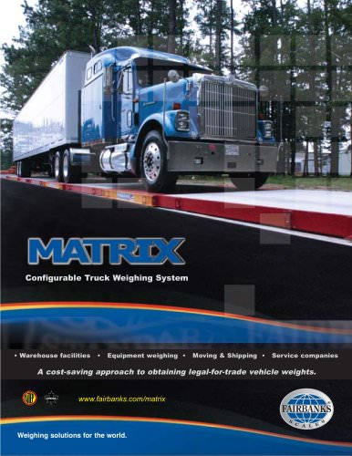 Matrix Series Configurable Truck Weighing System
