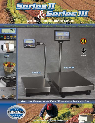Series II  General Purpose Bench Scale