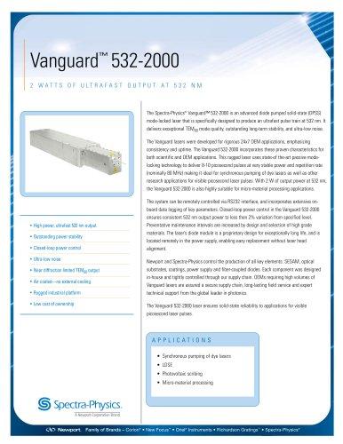 2 Watts Of Ultrafast Output At 532 Nm- Vanguard™ 532-2000