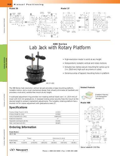 488 Series Height-Adjustable Rotary Platform