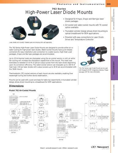 762 Series High-Power Laser Diode Mounts