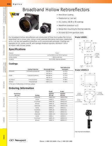 Broadband Hollow Retroreflectors