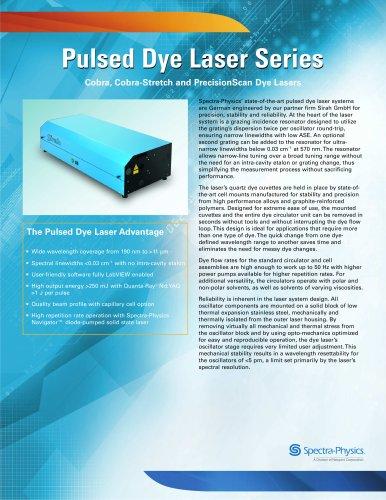 Cobra, Cobra-Stretch and PrecisionScan Dye Lasers Series