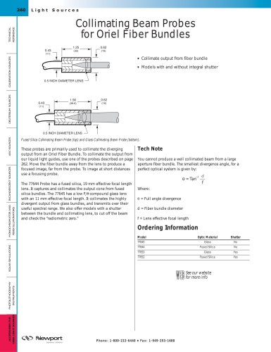 Collimating Beam Probes for Fiber Bundles