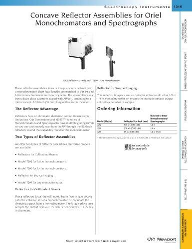 Concave Reflector Assemblies for Oriel Monochromators and Spectrographs