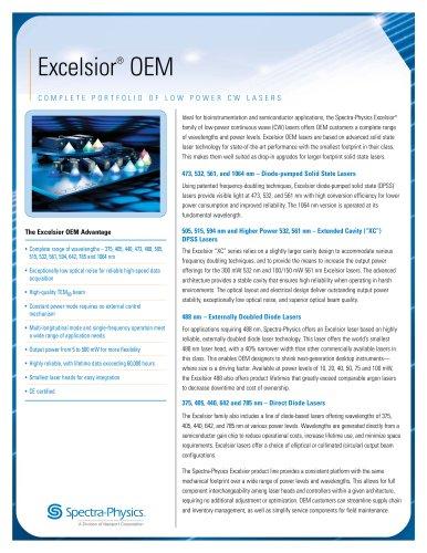 CW Lasers- Excelsior® OEM